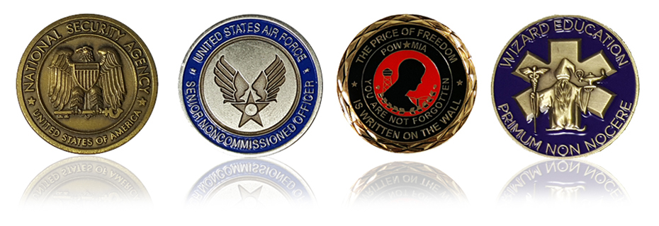 Custom Military, Police and Corporate Challenge Coins from LapelPins4Less.com